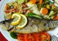 Specjalność kuchni - Pstrąg radkowski z warzywami na parze